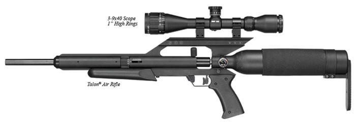 "AirForce Airguns Talon w/ 3-9X40 Scope, 1"" High Rings"