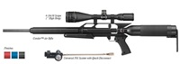 "AirForce Airguns Condor Shooting Kit with 4-16x50 Scope, 1"" High Rings, Spin-Loc Tank, and Universal Refill Clamp with Quick Disconnect"