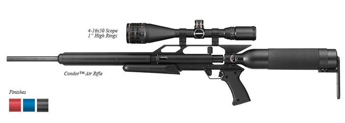 "AirForce Airguns Condor w/ 4-16X50 Scope, 1"" High Rings"