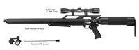 Texan®Carbine w/Universal Fill System, 4X32 Scope, High Rings