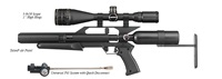 "AirForce Airguns TalonP w/3-9X50 Scope, 1"" High Rings, Spin-Loc Tank, Universal Refill Clamp w/Quick Disconnect"