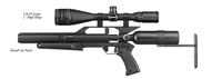 "AirForce Airguns TalonP w/3-9X50 Scope, 1"" High Rings"