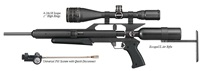 "AirForce Airguns EscapeUL w/K-Valve Fill System, 4-16X50 Scope, 1"" High Rings"