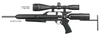 "AirForce Airguns EscapeUL w/4-16X50 Scope, 1"" High Rings"